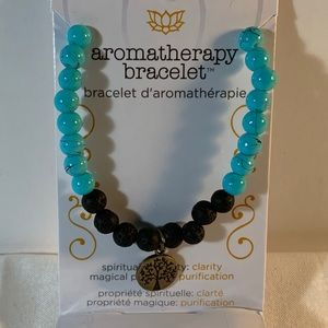 Faux Turquoise with Lava Beads
